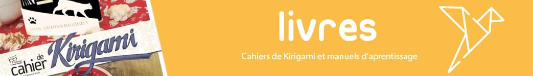 Entête de la catégorie livres de la boutique en ligne kirigami.fr