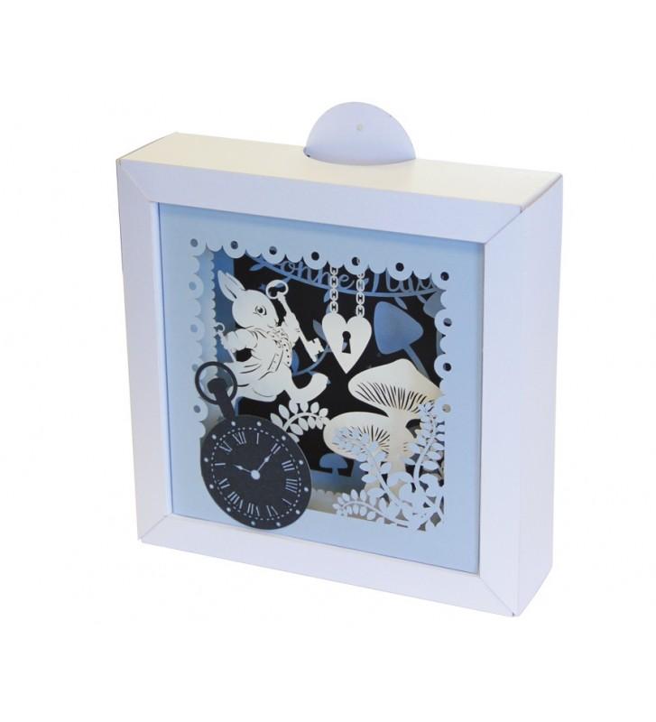 cadre kirigami lapin bleu