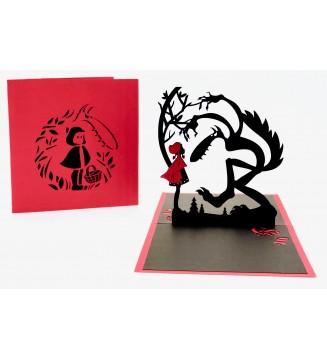 chaperon rouge en kirigami
