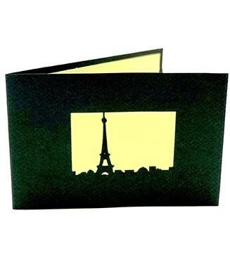 Carte pop-up Tour Eiffel verte