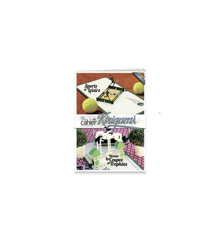 Couverture cahier de kirigami N°25 Sports et loisirs