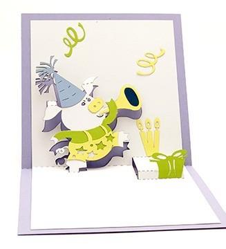 le Cochon joyeux carte pop-up