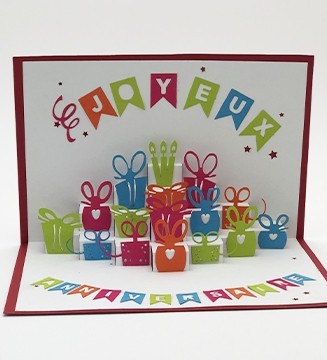 Kirigami carte d'anniversaire