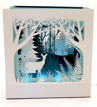 La Forêt de Noël luminaire papier