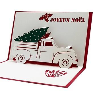kirigami Jeep de Noël