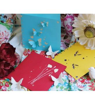 Couverture Printemps Papillons Hirondelle Coquelicot