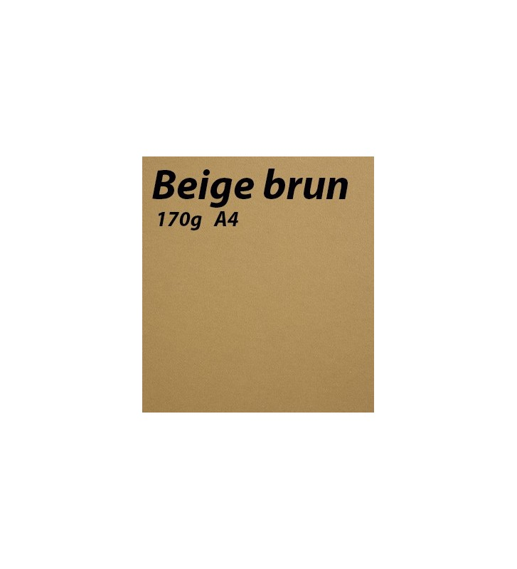 Beige Brun Papier A4 en 170g