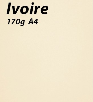 papier Ivoire A4 170g