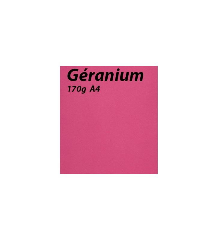 papier Geranium A4 170g