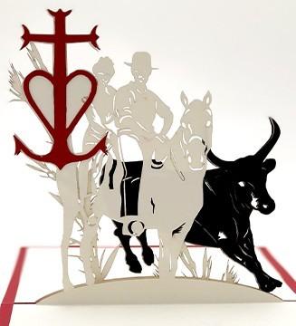 Manade, Croix Camarguaise Toros cheval Gardians