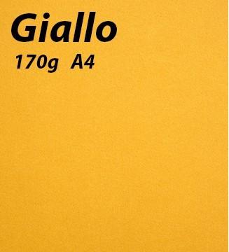 Papier 170g A4 Giallo