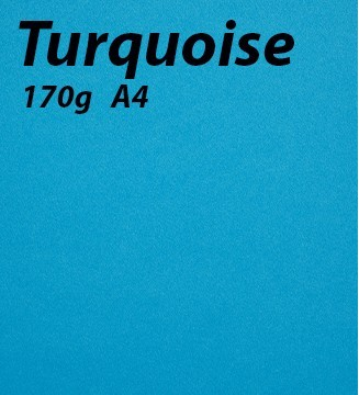 Papier 170g A4 Turquoise