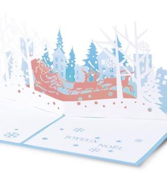 kirigami La tournée du père Noël