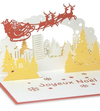 kirigami Noël en ville