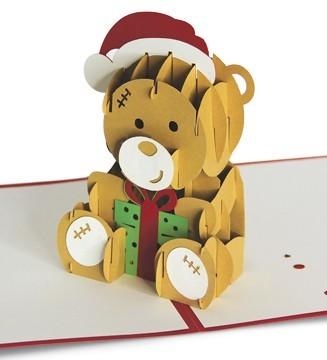 Kirigami Nounours de Noël