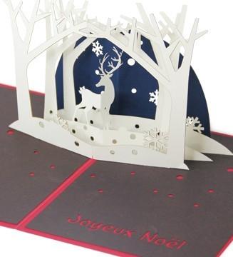 Kirigami Renne dans la forêt