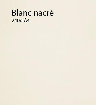 240g Blanc Nacré papier A4