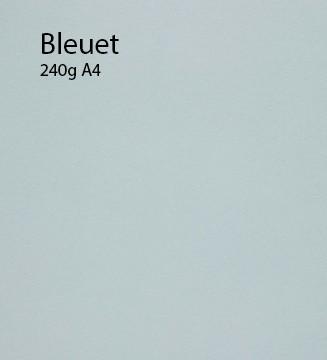 240g Bleuet papier A4 cartonné et coloré