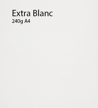 240g Extra-Blanc papier A4