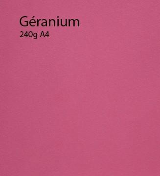 240g Géranium papier A4