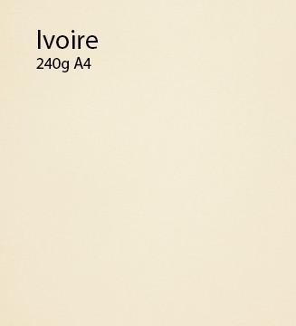 240g Ivoire papier A4