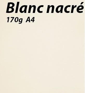 125 feuilles Blanc-Nacré 170g