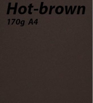 125 feuilles Hot-Brown
