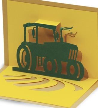 tracteur kirigami
