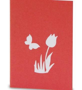 kirigami mini couverture fleur