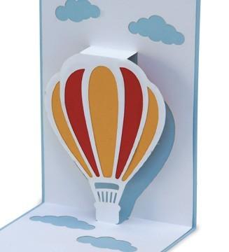 kirigami montgolfière