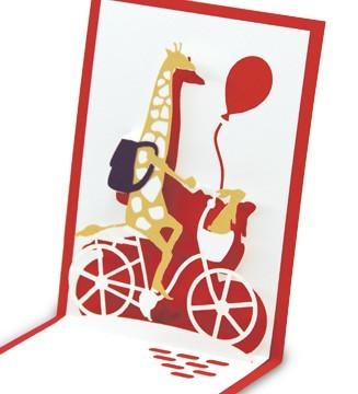 kirigami Girafe à vélo