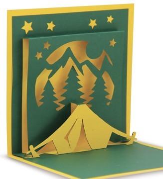 kirigami tente camping