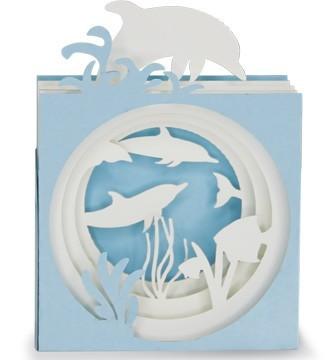 Kirigami Dauphins dans l'océan