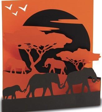 kirigami la marche des éléphants