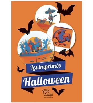 Kirigami Les imprimés d'Halloween