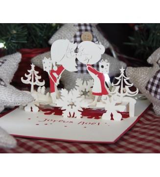 Kirigami Bisous de Noël