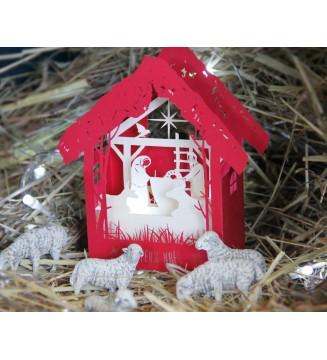 Kirigami la crêche Nativité