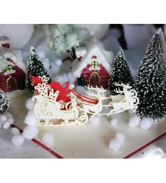 Kirigami Traineau du père Noël