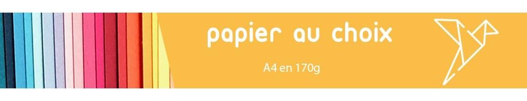 Papier de kirigami feuille A4 en 170g 65 couleurs
